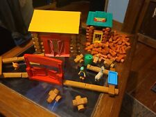 Lincoln Logs Farm And General Store With Extra Logs Good Condition.