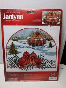 Janlynn Counted Cross Stitch Cardinals Barn 056 0177 Designed by Ursula Michael