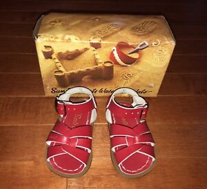 Sun San Salt Water Infant Toddler Girl Red Sandals Shoes Size 3 New