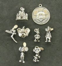 Vintage Disney Sterling Silver Charms Mickey & Friends Dumbo Tinkerbell Castle