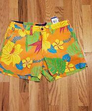 Polo Ralph Lauren Women's Linen Tropical Print Shorts Beach Sz 4 $98 THESPOT917
