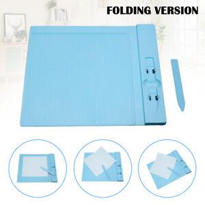 270x230mm Plastic Scoring Board Paper Card Cuting Board Craft with Measure Grid