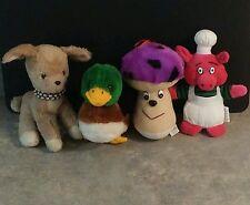 Little Lamb, Baby Mallard Duck, Mushroom, Pig Chef Stuffed Animals
