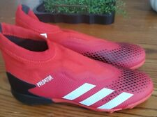 Adidas SZ 11.5 Predator 20.3 LL TF Red Laceless Soccer Shoes EE9576 Men