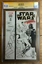 Star Wars #1 J T Christopher Sketch B&W Party Variant CGC SS 9.8 Signed Stan Lee