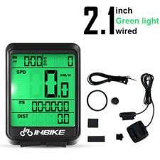 INBIKE IC321 Bicycle Computer Waterproof Wired LCD Odometer Bike Speedomet GREEN