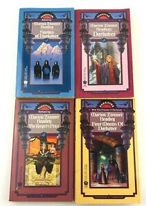 Darkover Series By Marion Zimmer Bradley Set Of 4 Fantasy Paperback Novel Books