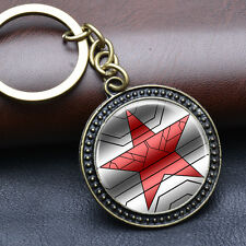 Winter Soldier Keychians Superheroes Key Ring Star Pendant Metal Keychain Gift