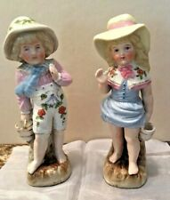 Pair Conta and Boehme antique porcelain Boy Girl Figurines
