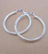 925 Sterling Silver Plated Women Fashion Hoop Dangle Earring Studs Jewelry EHH08
