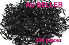 300 Black Hair ties Rubber hair band School gym Hairband Ponytail holder BULK