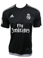 Maillot Homme Real Madrid CF H UCL 2015-2016 Adidas Noir / Gris S