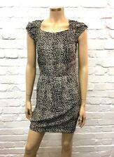 Maje Stunning Leopard Print Mini Dress Cap Sleeves UK 10