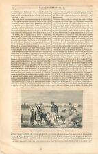 Orpailleurs du Rhin à Karlsruhe Carlsruhe Bade-Wurtemberg Allemagne GRAVURE 1849