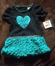 GIRLS/INFANT HEART BUBBLE DRESS SIZE 12MONTHS NWT