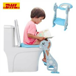 Toilettentrainer Toilettensitz Lerntöpfchen Toilettenleiter Faltbar Mit Treppe A