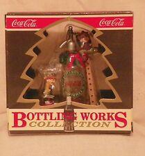 """Coca Cola Polar Bear Collection """"Seltzer Surprise"""" Christmas Ornament 1994"""