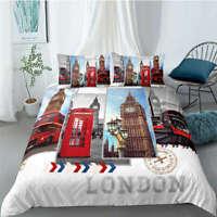 Great New York City Streets 3D Quilt Duvet Doona Cover Set Pillow case Print