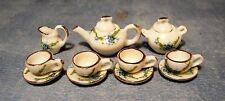 1:12 SCALA Forget Me Not Tè Set doll House Miniatura Set da tè in ceramica