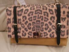 C5001  Fashion Leopard Printed with Tassel Shoulder Cross-body Tote Purse Cleara