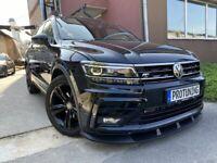 Front Bumper Performance Lip Spoiler valance Splitter for VW Tiguan MK2 R Line