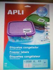 Etiquetas para Congelador. Removibles. 65,5 x 38,1 - 210 unidades