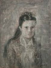 Civil War Vintage Woman Portrait, Contemporary Original Painting, Pojani-Ipalbus