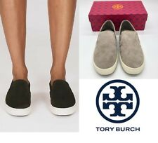 9bbe926352a2b5  198 Tory Burch Suede Max Slip On Sneaker Dust Storm Size 11