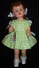 "Green Butterflies Dress for 22"" Saucy Walker or similar Dolls - DRESS ONLY"