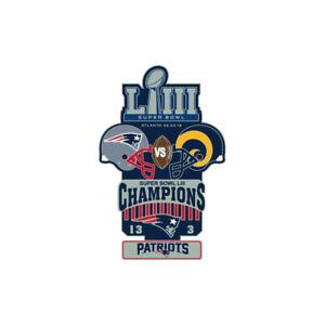 Super Bowl LIII 53 Commemorative Lapel Pin New England Patriots Los Angeles Rams