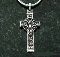 316 L Stainless Steel Celtic Durrow High Cross Pendant with 24 in snake chain