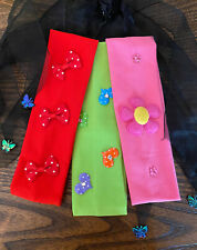 Lot Of 3 Lycra Headbands 2 1/4 wide , Multicolored . Brand New. Free Shipping