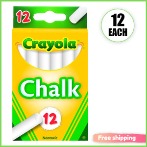 Crayola (51-0320) White Chalk 12 each new Perfect for teaching
