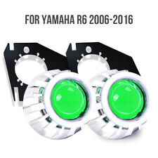 For Yamaha YZF R6 2006-2016 LED Angel Halo Eyes HID Green Demon Projector light