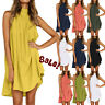 Womens Summer Irregular Mini Dress Ladies Sleeveless Holiday Loose Dresses 2019
