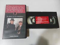 SHERLOCK HOLMES EL PERRO DE LOS BASKERVILLE PETER HAMMOND - VHS TAPE CASTELLANO