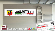 Abarth Workshop Garage Banner Fiat 500, Punto, 500C, Evo, Panda