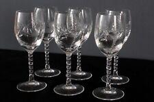 6 verres �� eau cristal d'Arques modèle Epi fleury