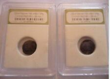 CONSTANTINE THE GREAT ANCIENT CERTIFIED 2 COINS .330 A.D.