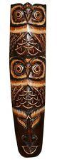 Schöne 50 cm Eule Holz Maske Owl Vogel Afrika Wandmaske Handarbeit Bali Maske70