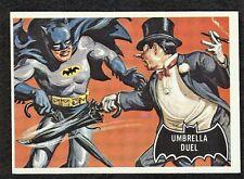 """1966 Topps Batman BLACK BAT CARD #23 """"Umbrella Duel"""" EX"""