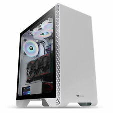 Thermaltake CA-1P5-00M6WN-00 S300 Tempered Glass Snow Edition Mid-Tower Chassis