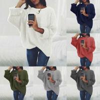Women Loose Long Sleeve Sweater Knitted Cardigan Coat Jacket Outwear Casual New