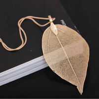 Unique Women Jewelry Leaves Sweater Pendant Chain Necklace Jian