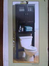 NIB Nice Bath Espresso-Finish Wood Over-Toilet ETAGERE STORAGE CABINET