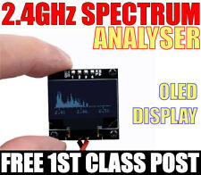 2.4GHz Mini Spectrum Analyzer with OLED Display RF Meter.  FREE 1ST CLASS POST