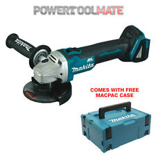 Makita DGA454ZJ1 18v Cordless Brushless Angle Grinder Li-Ion Naked c/w Mak Case