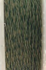 "GUDEBROD Butt Wind Rod Wrapping Braid 1/16"" Dark Green/White 002/5896 50 Yd"