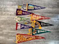 10 Rare Vintage Felt Flag Pennant State Parks Chief Manitou National State Park