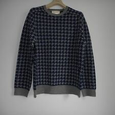 NWT FRENCH CONNECTION GRAY/NAVY BLUE LAMB WOOL POLYAMIDE SWEATER SIZE XXL
